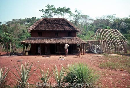 Two Storey Mud House, D.R. COngo (Zaire), Central Africa