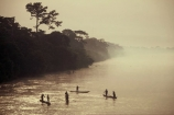 democratic-republic-of-congo;rivers;canoe;canoes;dugout;boat;boats;mist;misty;fog;foggy;jungle;rainforest