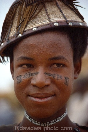 africa;african;africans;black;ethnic;male;people;person;persons;necklace;necklaces;jewellery;portrait;portraits;tradition;traditional;costume;costumes;traditions-costume;traditional-costumes;culture;cultural;cultures;tribe;tribes;tribal;markings;marking;tattoo;tattoos;west-africa;indigenous;native;adorn;adornment;hat;hats