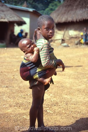Small Girl Baby Sister Zaala Village Man Region Ivory