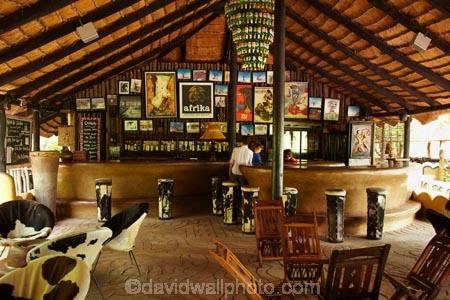 Quirky open_air bar, Planet Baobab, Gweta, Botswana, Africa