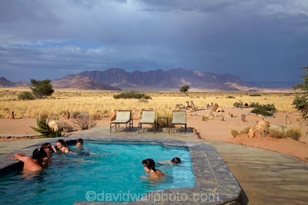 Swimming Pool At Desert Camp Sesriem Namib Desert Namibia Africa