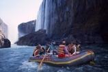 Victoria-Falls;Zambezi;Zambezi-River;Zimbabwe;Zambia;Southern-Africa;Africa;African;raft;dinghy;dingy;boat;inflatable;water;white-water;whitewater;rock;rocks;rocky;cliff;cliffs;waterfall;waterfalls;adventure;tourist;tourism;tourists;guide;tour-guide;tour