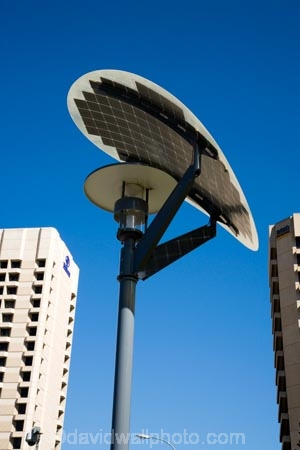 Solar Powered Street Light, Victoria Square, Adelaide, South