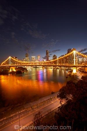 Australasia;Australia;Australian;Brisbane;Brisbane-River;dark;dusk;evening;light;lights;night;night-time;night_time;nightfall;Petrie-Bight;Qld;Queensland;river;rivers;sky;Story-Bridge;twilight
