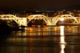 australasia;Australia;australian;bridges;Brisbane;Brisbane-River;cities;city;cityscape;cityscapes;illuminate;illuminated;light;lights;night;night-time;Queensland;reflection;reflections;rivers;sheen;shimmer;water;William-Jolly-Bridge