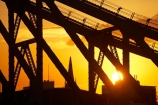 Australasia;Australia;Australian;Brisbane;dusk;evening;nightfall;orange;Qld;Queensland;sky;steelwork;Story-Bridge;strcutures;structure;sunset;sunsets;twilight