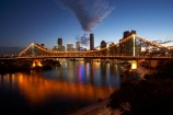 Australasia;Australia;Australian;Brisbane;Brisbane-River;dark;dusk;evening;light;lights;night;night-time;night_time;nightfall;Petrie-Bight;Qld;Queensland;river;rivers;sky;Story-Bridge;twilight