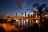 Australasia;Australia;Australian;Brisbane;Brisbane-River;dark;dusk;evening;light;lights;night;night-time;night_time;nightfall;palm;palm-tree;palm-trees;palms;Petrie-Bight;Qld;Queensland;river;rivers;sky;Story-Bridge;twilight