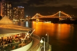 Australasia;Australia;Australian;Brisbane;Brisbane-River;Brisbane-Waterfront;cafe;cafes;calm;cuisine;dark;dine;diners;dining;eat;eating;evening;food;light;lights;night;night-time;night_time;Petrie-Bight;placid;Qld;Queensland;quiet;reflection;reflections;restaurant;restaurants;river;rivers;riverside;Riverside-Promenade;serene;smooth;still;Story-Bridge;tranquil;water;waterfront