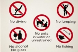 Australasian;Australia;Australian;Darwin;Darwin-Waterfront;Darwin-Waterfront-Precinct;N.T.;no-alcohol;no-fishing;no-glass;no-jumping;no-pets;Northern-Territory;NT;sign;signs;Top-End