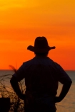 akubra;Australasian;Australia;Australian;Darwin;dusk;evening;man;Mindil-Beach;Mindil-Beach-Market;Mindil-Beach-Markets;Mindil-Beach-Sunset-Market;Mindil-Beach-Sunset-Markets;Mindil-Market;Mindil-Markets;Mindil-Sunset-Market;Mindil-Sunset-Markets;N.T.;nightfall;Northern-Territory;NT;orange;people;person;silhouette;silhouettes;sky;sunset;sunsets;Top-End;twilight
