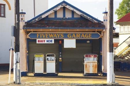 Petrol Pumps At Old Petrol Station Maryborough