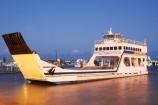 australasia;Australia;australian;Australian-Red-Ensign;car-ferries;car-ferry;dusk;ferries;ferry;Fraser-Island;Queensland;transport;transportation;twilight;urangan