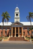 1908;architectural;architecture;australasia;Australia;australian;building;buildings;character;City-Hall;city-halls;classic;classical;clock-tower;clock-towers;colonial;column;columns;heritage;historic;historical;Maryborough;old;palm;palm-tree;palm-trees;palms;Queensland;stair;stairs;step;steps;town-hall;town-halls