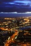 australasian;Australia;australian;commuter;commuters;dark;dusk;evening;light;lights;Melbourne;night;night-time;traffic;twilight;Victoria;view-from-rialto-tower;view-from-rialto-towers;yarra-river