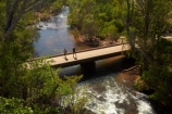 Adelaide-River;Australasia;Australia;bridge;bridges;N.T.;Northern-Territory;NT;Old-low-level-road-bridge;people;person;road-bridge;road-bridges;Top-End;traffic-bridge;traffic-bridges