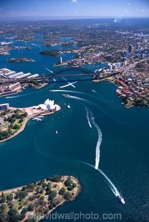 Sydney;Opera;House;Sydney;Harbour;harbor;harbors;harbours;Bridge;bridges;Australia;aerial;architecture;boat;boats;ferry;ferries;wake;aerials;royal-botanic-gardens;royal;botanic;gardens;park