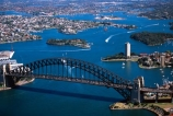 Sydney;Opera;House;Harbour;harbor;harbors;harbours;aerials;Bridge;bridges;Australia;aerial;architecture;boat;boats;ferry;ferries;wake
