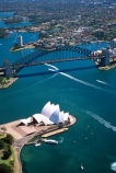 aerial;aerials;architecture;Australia;boat;boats;Bridge;bridges;ferries;ferry;harbor;harbors;Harbour;harbours;House;Opera;Sydney;wake
