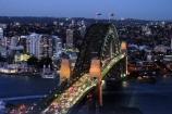 Sydney;Harbour;harbours;harbor;harbors;Bridge;Night;Shangri_La;Hotel;Sydney;Australia;traffic;tail-lights;bridges;light;lights
