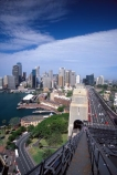 sydney;australia;climb;climber;bridge;bridges;view;high;exciting;adventure;tourism;tourist;tourists;circular-quay;sydney-cove;sydney-harbour-bridge;cbd;motorway;harbor;harbour;harbors;harbours