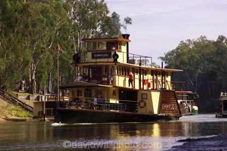 Emmylou Paddle Steamer Murray River Port Of Echuca Victoria
