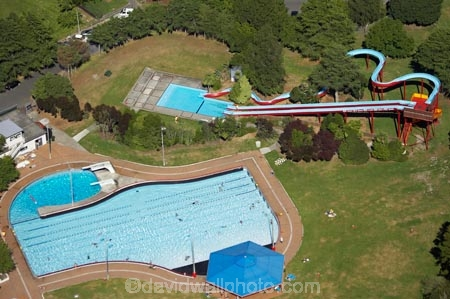 Jellie Park Aqualand Fendalton Christchurch Canterbury South Island New Zealand Aerial