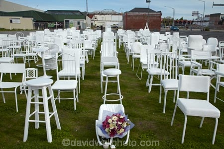 185 Empty Chairs Memorial For 2011 Earthquake Victims