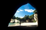 bay-beach;cave;caves;coast;erosion;sand;sea-cave;silhouette;tourism;tourist;tourists;water