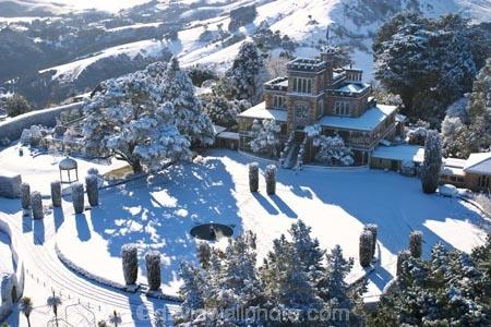 larnach castle and snow otago peninsula dunedin south