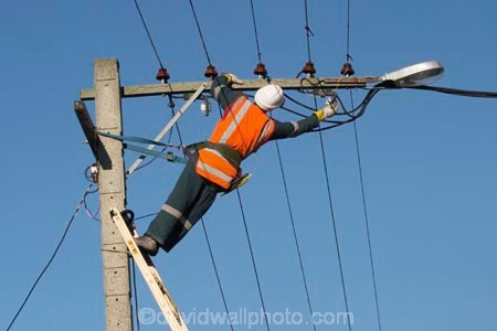 Linesman Working on Power Wires