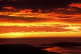 dawn;orange;cloud;clouds;pacific;ocean;sea;harbor;first-light;waterway;waterways;channel;beauty