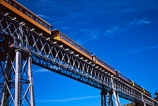 bridge;bridges;carriage;carriages;excursion;high;historic;historical;rail;steel;tourism;train;trains;transport;travel;yellow