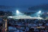 sport;sports;sporting;floodlight;floodlit;nighttime;Otago;sporting-venue;venue;Caversham;cricket;rugby;Highlanders;Otago-Rugby-Football-Union;stadium;Scotsmans-Grandstand