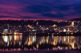 harbor;historical;historic;skyline;Dunedin;Otago;harbour;reflection;reflections;still;night;evening;dusk;cityscape;city