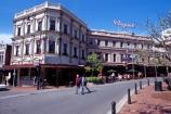 Octagon;Dunedin;Regent;Regent-Theatre;theatre;cafe;restaurant;paving;pavement;bollard;bollards;people;coffee;relax;relaxing;summer;building;historic;colonial
