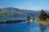 Blanket-Bay;carriage;carriages;causeway;causeways;Dunedin;excursion-train;N.Z.;New-Zealand;NZ;Otago;Otago-Harbour;Otago-Peninsula;passenger-train;Passenger-Trains;rail;rail-line;rail-lines;rail-track;rail-tracks;railroad;railroads;rails;railway;railway-line;railway-lines;railway-track;railway-tracks;railways;S.I.;Seasider-Train;SI;South-Is;South-Is.;South-Island;Sth-Is;Taieri-Gorge-Seasider-Train;Taieri-Gorge-Seasider-Train;tourism;tourist-attraction;tourist-attractions;tourist-train;tourist-trains;track;tracks;train;train-track;train-tracks;trains;transport;transportation;travel;water