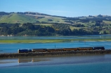 Blanket-Bay;carriage;carriages;causeway;causeways;Dunedin;excursion-train;N.Z.;New-Zealand;NZ;Otago;Otago-Harbour;Otago-Peninsula;passenger-train;Passenger-Trains;rail;rail-line;rail-lines;rail-track;rail-tracks;railroad;railroads;rails;railway;railway-line;railway-lines;railway-track;railway-tracks;railways;S.I.;Seasider-Train;SI;South-Is;South-Is.;South-Island;Sth-Is;Taieri-Gorge-Seasider-Train;Taieri-Gorge-Seasider-Train;tourism;tourist-attraction;tourist-attractions;tourist-train;tourist-trains;track;tracks;train;train-track;train-tracks;trains;transport;transportation;travel;water