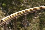 bridge;bridges;viaduct;viaducts;train;trains;carriage;carriages;historic;historical;high;yellow;steel;rail;excursion;tourism;transport;travel;rail;taieri-gorge-train;taieri-river;taieri-gorge;flat-stream-viaduct;dunedin;south-island;new-zealand