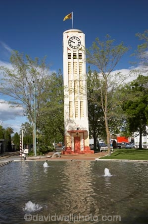 Clock Tower And Fountain Hastings Hawkes Bay North