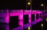 purple;rivers;bridges;water;transport;transportation;aerials;traffic-flow;flows;waterway;structure