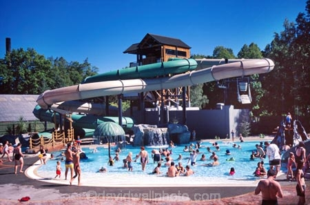 Waterslide hanmer springs north canterbury - Swimming pools with slides north west ...