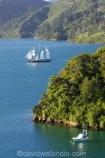 Becks-Bay;coast;coastal;coastline;Grove-Arm;Marlborough;Marlborough-Sounds;mast;masts;moor;mooring;moorings;New-Zealand;Queen-Charlotte-Sound;sail;sailing-ship;sailing-ships;sails;South-Island;Spirit-of-Adventure;Spirit-of-New-Zealand;tall-ship;tall-ships;Whenuanui-Bay