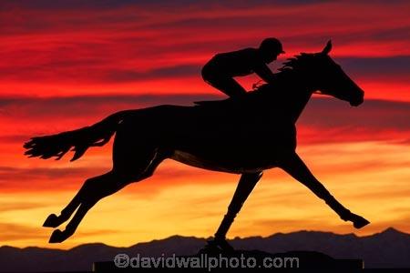 art;art-work;art-works;bronze-sculpture;bronze-statue;Canterbury;dusk;equestrian;evening;horse;horse-racing;horse-statue;horse-statues;horses;jockey-Jim-Pike;N.Z.;New-Zealand;night;night_time;nightfall;NZ;Phar-Lap;Phar-Lap-Raceway;Phar-Lap-Statue;public-art;public-art-work;public-art-works;public-sculpture;public-sculptures;S.I.;sculptor-Joanne-Sullivan_Giessler;sculpture;sculptures;SI;South-Canterbury;South-Is;South-Is.;South-Island;statue;statues;Sth-Is;sunset;sunsets;Timaru;twilight;Washdyke