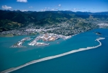 aerial;aerials;boulder-bank;cities;city;coast;coast-line;coastal;coastline;harbor;harbors;harbour;harbours;nelson;ocean;port-of-nelson;ports;sea;shore;shore-line;shoreline;south-island;tasman-bay;wharf;wharves
