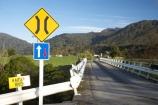 Aorere-Valley;bridge;bridges;Golden-Bay;Kaituna-River;N.Z.;narrow-bridge;narrow-bridges;Nelson-Region;New-Zealand;NZ;one-lane-bridge;one-lane-bridges;one_lane-bridge;one_lane-bridges;road-bridge;road-bridges;S.I.;SI;sign;signs;South-Is.;South-Island;traffic-bridge;traffic-bridges;Wakamarama-Range