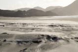 beach;beaches;coast;coastal;coastline;N.Z.;Nelson-Region;New-Zealand;North-West-Nelson-Region;NZ;S.I.;sand;sandy;shore;shoreline;SI;South-Is.;South-Island;strong-wind;Wharariki-Beach;wind;Windblown-Sand;windy
