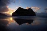 Archway-Is;Archway-Is.;Archway-Island;Archway-Islands;beach;beaches;calm;coast;coastal;coastline;dusk;evening;foreshore;geological;geology;N.Z.;Nelson-Region;New-Zealand;nightfall;North-West-Nelson-Region;NZ;placid;quiet;reflection;reflections;rock;rock-formation;rock-formations;rock-outcrop;rock-outcrops;rock-tor;rock-torr;rock-torrs;rock-tors;rocks;S.I.;sand;sandy;serene;shore;shoreline;SI;sky;smooth;South-Is.;South-Island;still;stone;sunset;sunsets;Tasman-Sea;tranquil;twilight;water;Wharariki-Beach