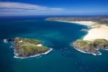 aerial;aerials;beach;beaches;blue;Cape-Maria-van-Diemen;Cape-Reinga;coast;coastal;coastline;Far-North;Motuopao-Island;new-zealand;north-is.;north-island;northland;ocean;sand;sandy;scenic;sea;shore;shoreline;tasman-sea;water;waterside;waves